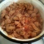 soia cu ciupercile si pasta de rosii