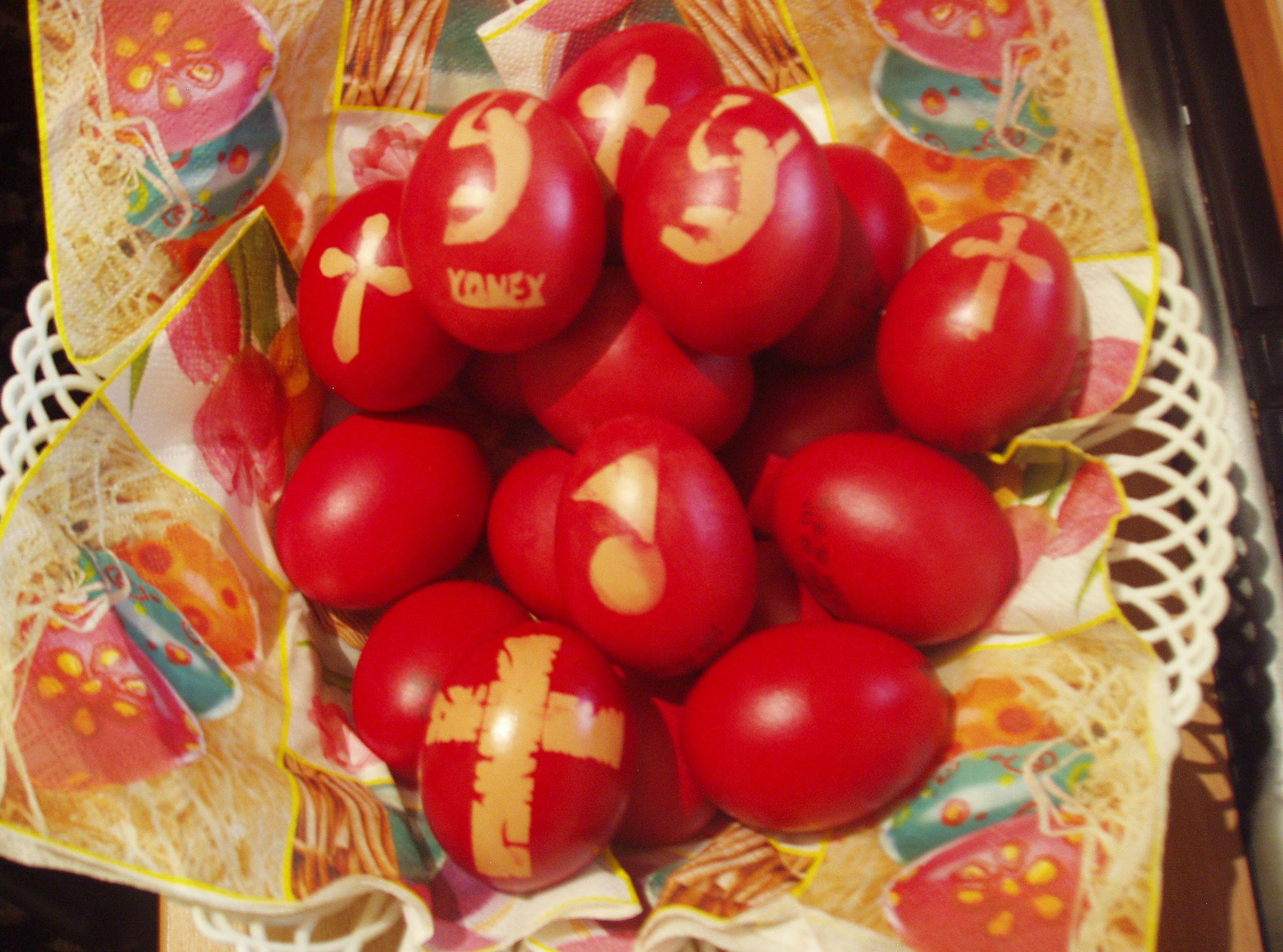 """Decoratiuni """"Badminton"""" pentru ouale de Pasti"""