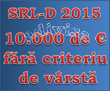 Bani pentru firme debutante SRL-D-2015 10000 de euro adivisa