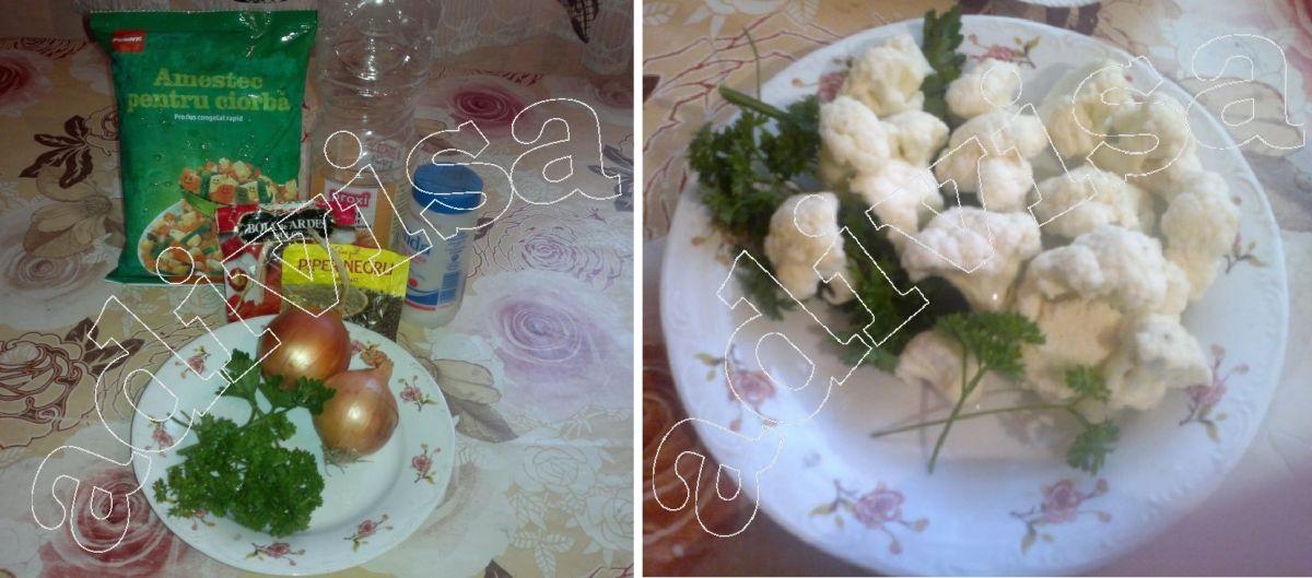 Retete de post – Ciorba de legume cu conopida