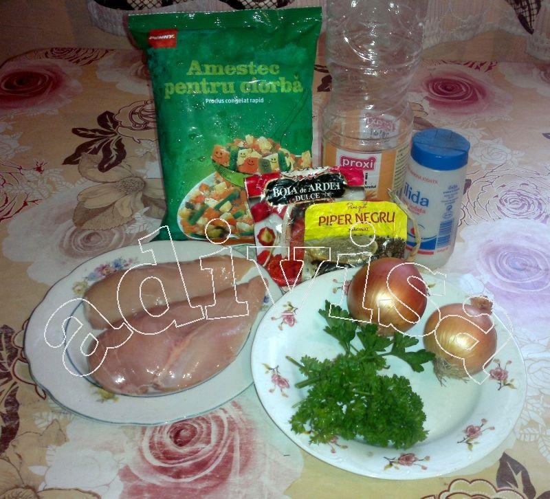 Reteta de slabire sau pentru diabetici – Ciorba de legume cu piept de pui