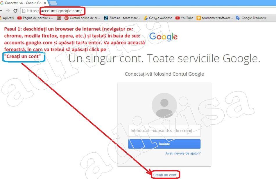 1.Creare gmail