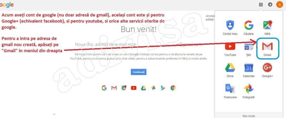 Creare gmail