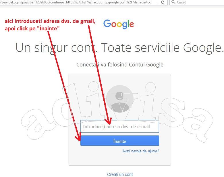 gmail conectare