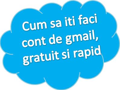 Cum sa iti faci cont de gmail, gratuit si rapid