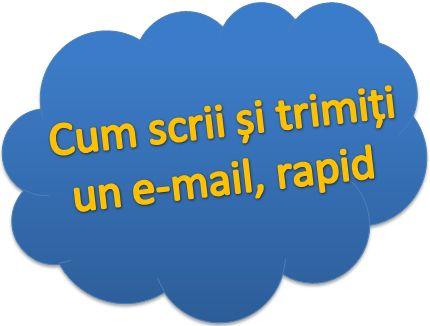 Cum scrii si trimiti un e-mail, rapid