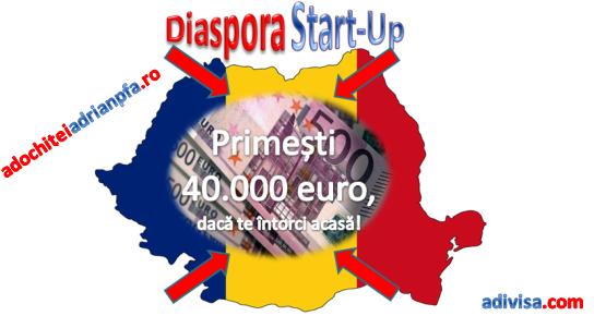 Diaspora Start-Up – 40.000 de euro pentru romanii care se intorc sa deschida afaceri in tara