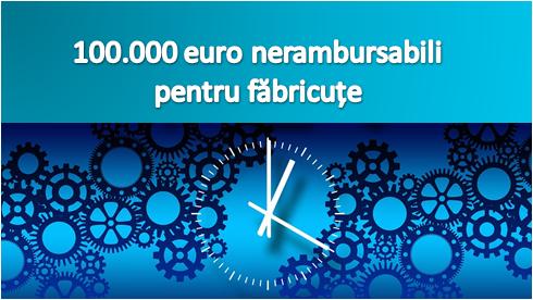 Programul Microindustrilaizare:100.000 euro nerambursabili, de la stat! Vezi toate detaliile