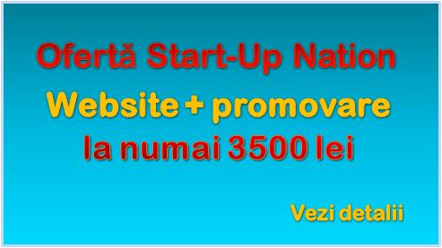 Ofertă specială Start-up Nation: website + promovare la preț foarte avantajos!