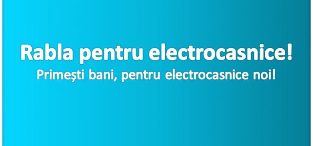 Vrei să primești bani pentru un frigider nou sau o mașină de spălat mai bună? A început programul rabla pentru electrocasnice!