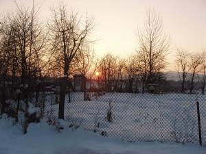 Apus de soare - în grădină