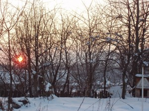 Peisaj - Apus de soare